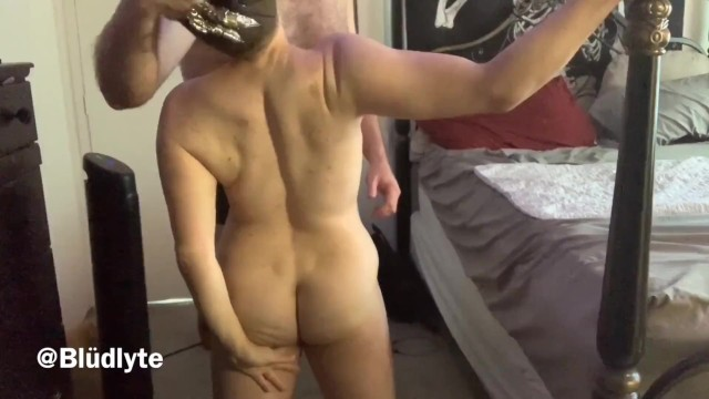Trans man sucks cock and gets clawed