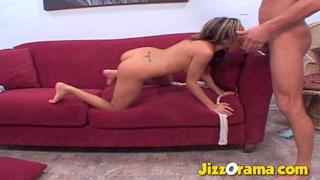 JizzOrama - Latina LELA STAR dealing with a huge dick 11