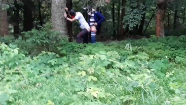 Wild Pups Fucking and Sucking in the Forest