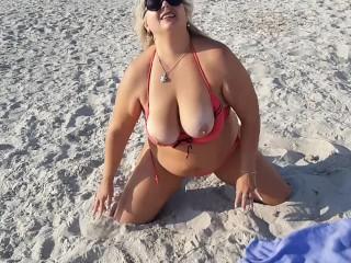 Strip on beach hot...