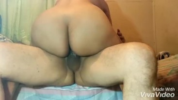 Creampie big dick from stepbrother, Maria's big booty
