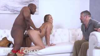 Shewillcheat – PAWG AJ Applegate cucks her hubby with bbc
