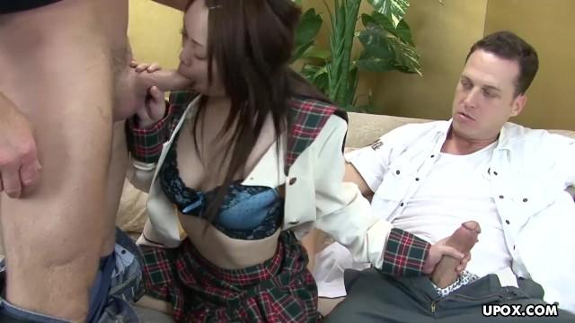 Japanese brunette, Hitomi Oishi had a mmf adventure with neighbors 4