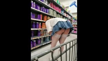 Crystal with a short skirt in Walmart