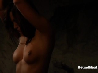 Betrayed cargo busty young lesbian slave in chains...