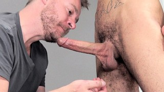 Huge Suckoff Cum Swallowing Facial from Long Skinny Cock
