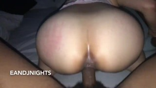 ASIAN GIRLFRIEND BOUNCES BIG ASS ON BBC