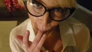 ROLEPLAY SUBMISSIVE SECRETARY GIVES GREAT ORAL DICK -TATION FUCK SUCK SHOW