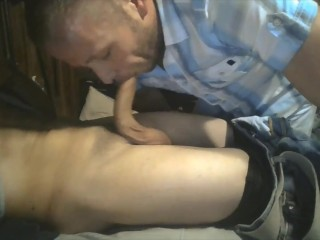 Sucking a straight boy cock until he shoots...