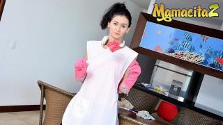 MAMACITAZ - Slender Latina Maid Gets Railed by Horny Client