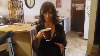 Wide bottom ceramic coffee mug