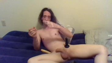 Naked Transgirl in Only Socks Showing How to Use a Condom (Overly Detailed)