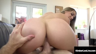Screen Capture of Video Titled: Hot Step Sister Kimber Lee Pussy Fucks Step Bro At Home!