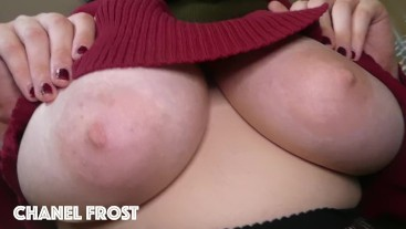 Can I Put My Big Natural Hanging Tits In Your Face?