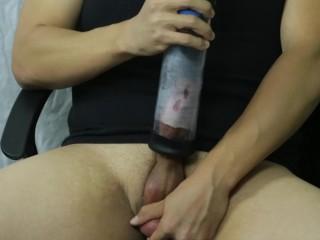 Vacuum dick pump dirty talk my fat balls...