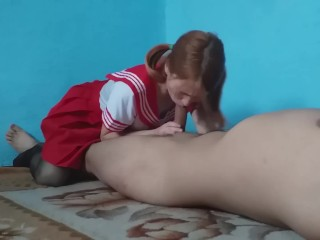Japanese schoolgirl loves to do blowjob after school (27 Aug 2019)