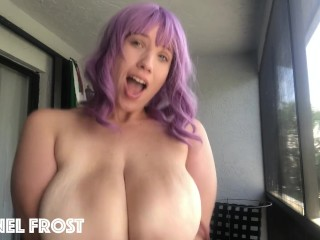 Bouncing My Huge Tits On The Balcony While My Roommate Plays COD Inside! (27 Aug 2019)
