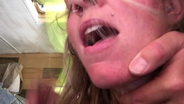 Rough Sex Choking Young Hairy Pregnant Milf In Camper