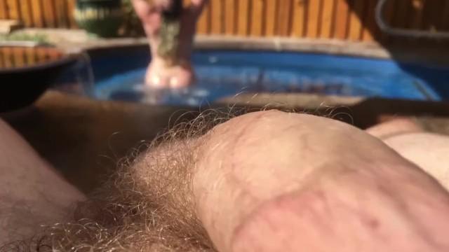 POV Big Cock Gets Hard Watching Bunnie Lebowski Showering In Public Spa 1