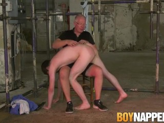 Slave bob steel receives ass spanking by old...