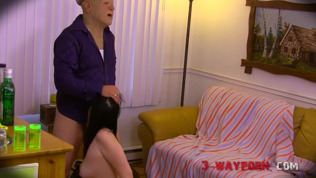 3-Way Porn - Old Fuck In a Weird 3Some Proposition 17