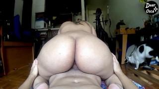 Hot Latina TEEN RIDES stepBROTHER's COCK