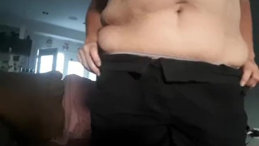 Watch how he tongue fucks and eats my ass when I strip for him