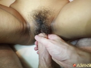 Asiansexdiary babe fucked doggystyle with dripping creampie...