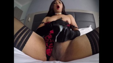 My cumshot In front of camera with a huge load