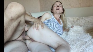 MILF polishes her booty dick lover