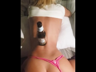 Hold my Beer while you fuck my Perfect Little Teen Pussy Doggystyle