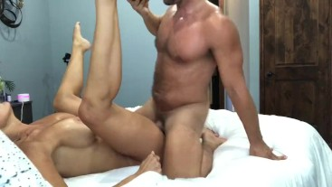 Regan Foxx and Brad Newman first sex tape and creampie