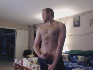 Stripping showing off and wanking...