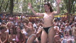 Amateur Stripping Contest At A Nudist Resort