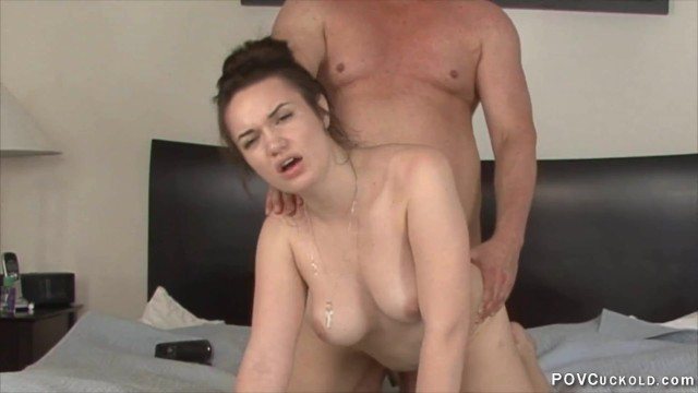 POV cuckold 42 Paris Lincoln cuckolds her stepdad creampie eating chastity 9
