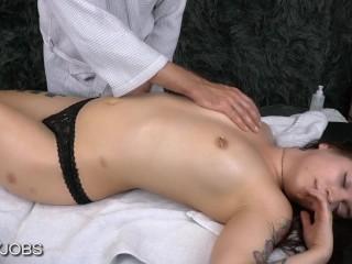 Massage Happy Endings - Goth Girls's Orgasm -- JizzyJobs and Zane Riley