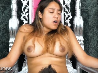 Eating Hot Exotic Shreya's Pussy -- JizzyJobs and Shreya