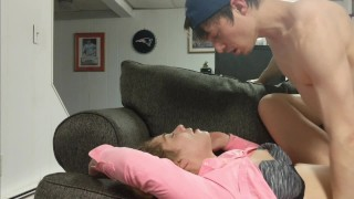 Screen Capture of Video Titled: She Tricks Him and Held Down at Last Second For CREAMPIE - Heather Kane