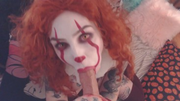Pennywise the Clown POV BJ, Cum in mouth