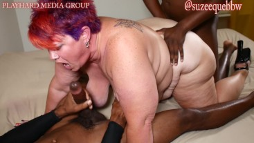 HOT WIFE SUZEE QUE BBW GETS A BBC GANGBANG