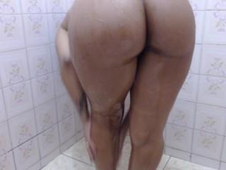Girl ass masturbate on bathroom...