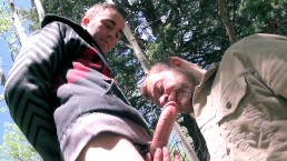 Huge Dick Gets Swallowed Outdoors By Hungry Cum Sucker – Eating a Big Load