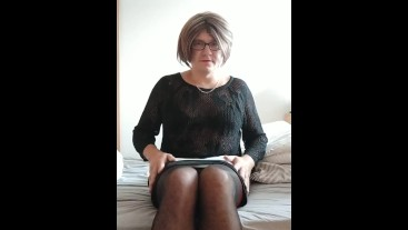 Patty crossdresser on bed