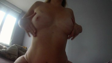 Morning fuck with my wife, she takes pleasure in riding my dick.