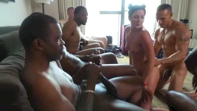 Jordan aka katie price naked - Hotwife in interracial cuckold gangbang