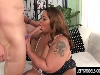 Tastes white dick and gets mercilessly pounded...