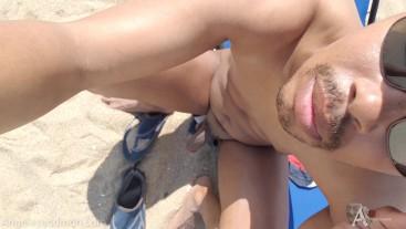 Nude beach public cock teasing