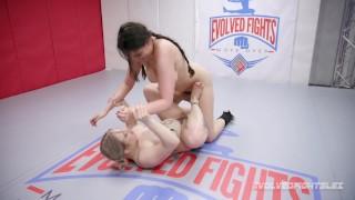 Lesbian wrestling trailer with Kaaia Eve vs Kyra Rose winner fucks loser