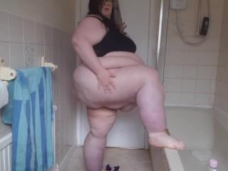 Ssbbw shower strip tease lets get naked...