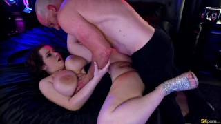 Anna Blaze Shows Off Her Huge Natural Tits for Multiple Creampies